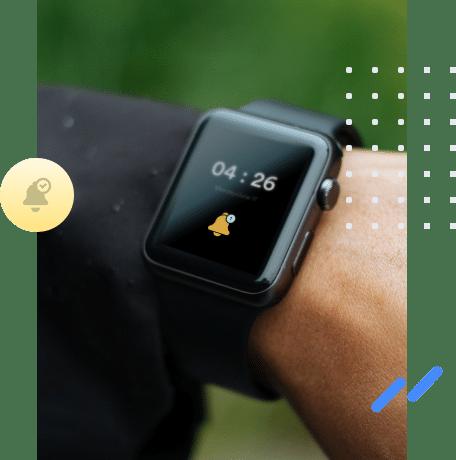 A smartwatch alert
