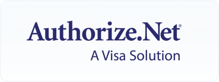 Authorize.Net A Visa Solution payment gateway logo