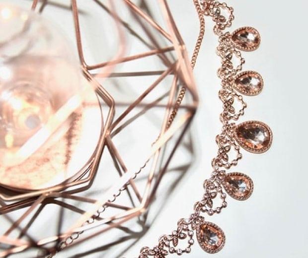 A close up of decorative jewelry